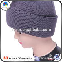 custom logo knitted winter hat
