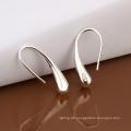 Heißer Verkaufs-einfacher Entwurf, der silberner Ohrring-Tropfen geformte Ohrring-Art- und Weiseschmucksachen für Frauen stempelt