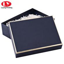 Caixa de embalagem de lenço de pashmina de luxo da marinha