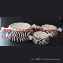 Alimentateur pour animaux de compagnie en porcelaine