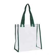 Shopping Handle Tote Bag High Quality Promotional Colored Plastic Pvc Transparent Offset Printing Craft Sewing Letter 1,000 Pcs