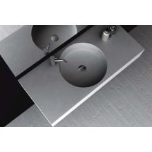 China Brillante pared blanca colgó el lavabo de mármol (BS-8416)