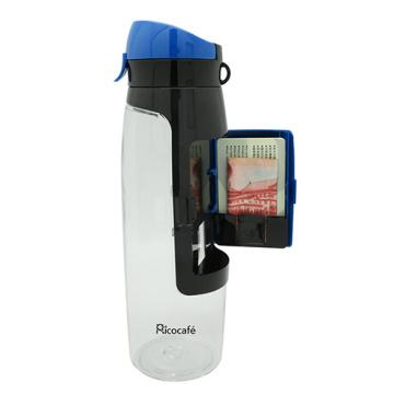 Botella del deporte de Tritan con función de almacenamiento la tarjeta