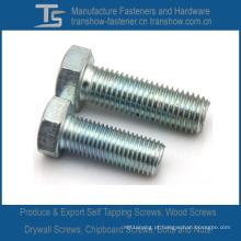 Aço Carbono ou Aço Inoxidável DIN933 Parafusos Hexagonais (M3-M48)