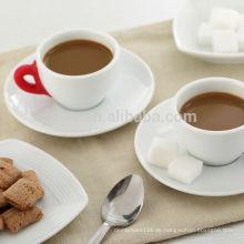 75cc bunte Silikongriff Porzellan Tasse und Sauce, Kaffeetassen und Untertassen