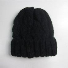 Schwarzes Kabel Strick Winter Toque