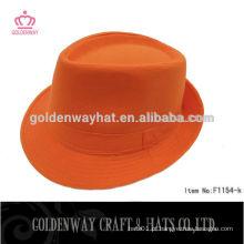 Chapéu de fedora barato de algodão de laranja