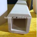 Tubo de cerámica de alúmina de gran tamaño con un agujero hexagonal de 99,7%