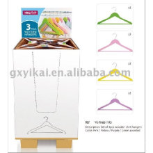 Promotional Wooden Clothes Hanger with display packaging