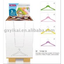 Рекламная деревянная вешалка для одежды с дисплеем