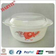Hot Sale 1.0L Opal Glass Pot With Lid