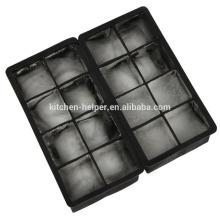 8 cavidade mais prática do molde do gelo Silicone Square Non-stick Ice Mould