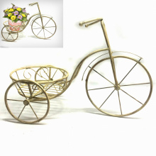Metal Home and Garden Decoration Tricycle Flowerpot Stand Craft