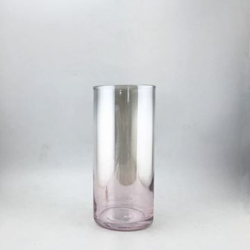Vase en verre de couleur poire