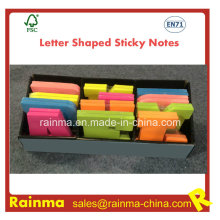 Letter Shaped Sticky Notes in display Box Packing