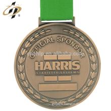 Custom zinc alloy bronze metal weightlifting sports medallion