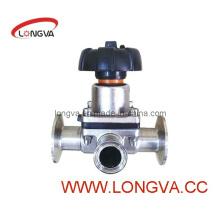 Пневматический мембранный клапан с ручным управлением