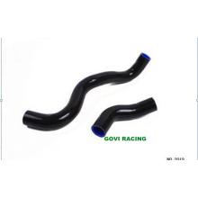 Conector de tubo de mangueira de silicone para radiador preto para Toyota Markii Jzx100