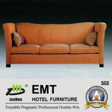 Sofá cómodo del sofá de la tela de la clase del hotel de la estrella (EMT-SF43)