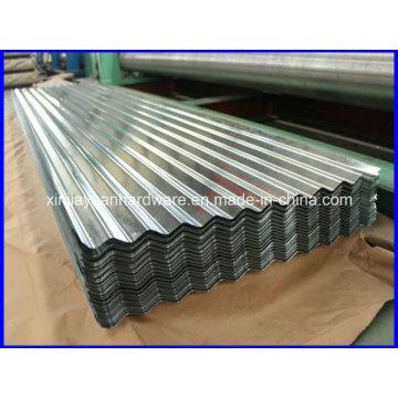Sgch / SGCC / Dx51d + Z Folha de telhado metálico de aço corrugado