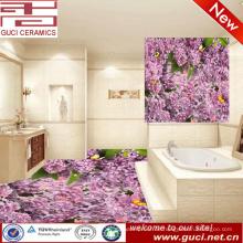 Fliese-Designe des Bodens 3d und keramische Bodenfliese der digitalen Designblume