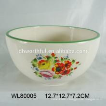 Фабрика прямых продаж 2016 керамическая чаша с популярными цветок декали