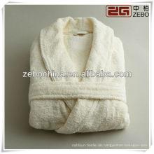 Mode Luxus weißen Schal Kragen Hotel terry Baumwolle Bademantel
