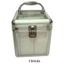 high quality 80 CD disks aluminum DVD box with clear acrylic plate as walls wholesales