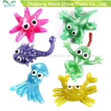Nueva novedad TPR Animales juguetes de plástico Sticky Kids Party Favors