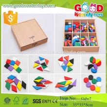 Frobel Geschenk Gabe 7 Vorschule hölzerne Muster Spielzeug frühen Lernspielzeug für Kinder