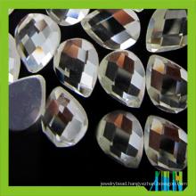 Wholesale teardrop flat mirror back glass stone