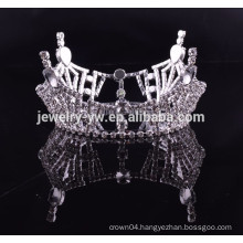 cheap wholesale hair accessories full round royal mens crown