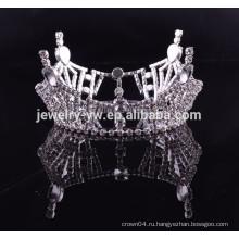Дешевые оптовые аксессуары для волос полный круглый королевский mens crown