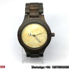 Madeira de alta qualidade / relógio de ébano, relógio de quartzo, relógio de mármore Hl04