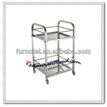 S083 Assembling Stainless Steel Wine Service Trolley