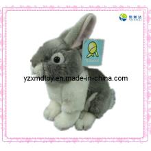 Brinquedo de pelúcia doce brinquedo de coelho cinzento bonito