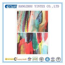 Tissu imprimé crêpe de Chine 100% polyester fait à la main, 56 po, 75D * 75D / 112 * 68