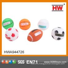 Non-Toxic более дешевый пластичный шарик винила для игрушек Резиновый шарик детей 6PCS / SET