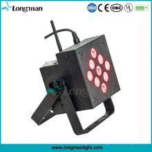 China 9 * 10W batteriebetriebene wiederaufladbare LED flache PAR Licht