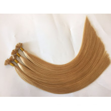 Double Drawn 10-28inch Italian keratin glue 100% Remy Indian hair Flat Tip Hair Extensions for sale