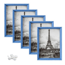 High Definition Glass wholesale custom 5x7 blue Wall or Tabletop Display art picture photo frame for home decoration