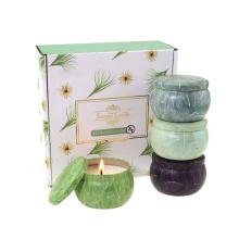 Coffret Cadeau Bougies Parfumées Fortes Encens Fait Maison Personnalisé