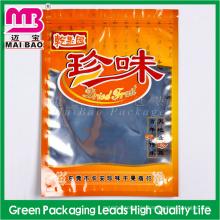 Bolsa de empaquetado de alimentos de la cremallera plástica del papel de aluminio con la ventana clara