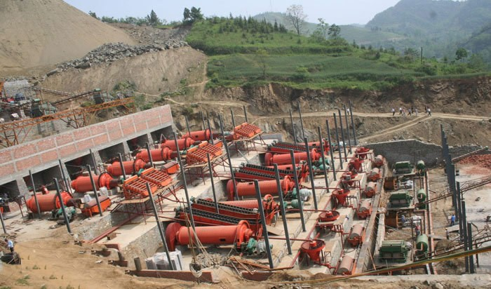 Ball mill onsite