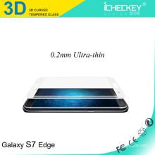 Suministro directo de fábrica !!! Protector de cristal moderado curvado 3D de la pantalla para el borde de Samsung s7