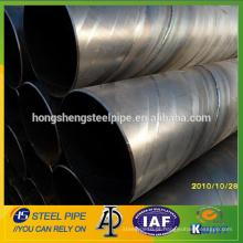 Espiral tubo de aço soldado com grande diâmetro / ssaw tubo de aço com teste de água preço da china