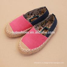 Простые малыши вскользь ботинки холстины для ботинок espadrille малышей продают оптом
