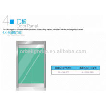 Painel de porta de pouso de vidro de elevador / painel de porta de cabine, painel de aço inoxidável ou de vidro
