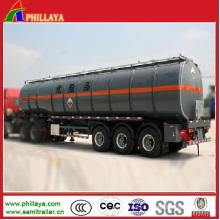 Большой объем асфальт танкер прицеп для подогрева битума транспорта