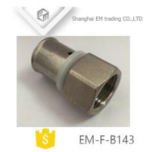 EM-F-B143 conector de encaixe de tubulação de latão pex al pex hexagon joint